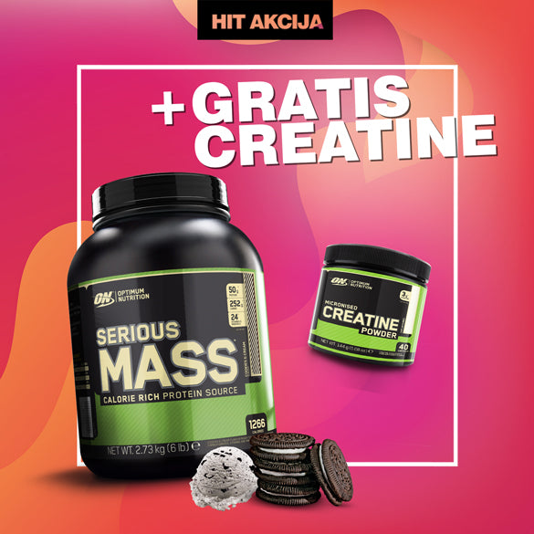 Optimum Nutrition Serious Mass + ON Creatin (GRATIS) - Muscle Freak
