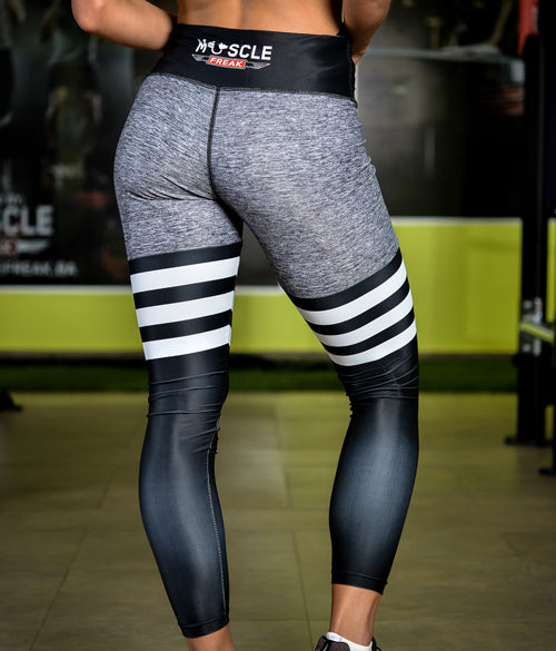 "MuscleFreak Leggings ""Grey"" - Muscle Freak"