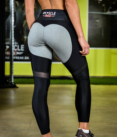 "MuscleFreak Leggings ""Grey Heart"" - Muscle Freak"
