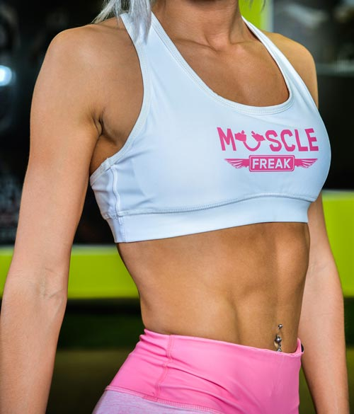 "Muscle Freak Fitness Top ""White"""