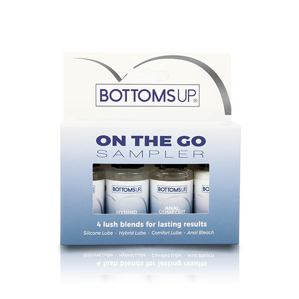 Bottoms Up On-The-Go Sampler - Mixed Lotion Sample Bottles - 4 Pack