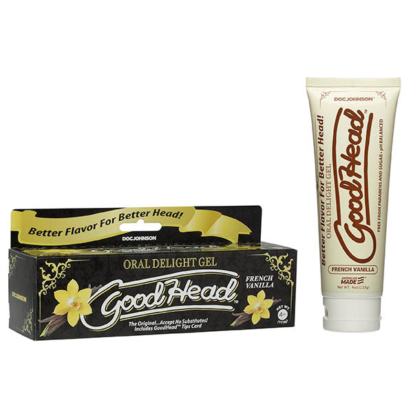 GoodHead Oral Delight Gel - French Vanilla Flavoured Oral Sex Lotion - 113 g Tube