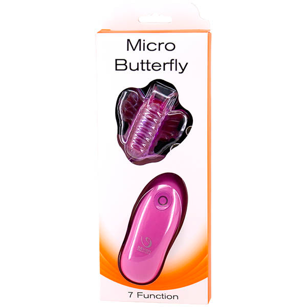 Seven Creations Micro Butterfly - Purple Vibrating Strap-On Butterfly Clit Stimulator