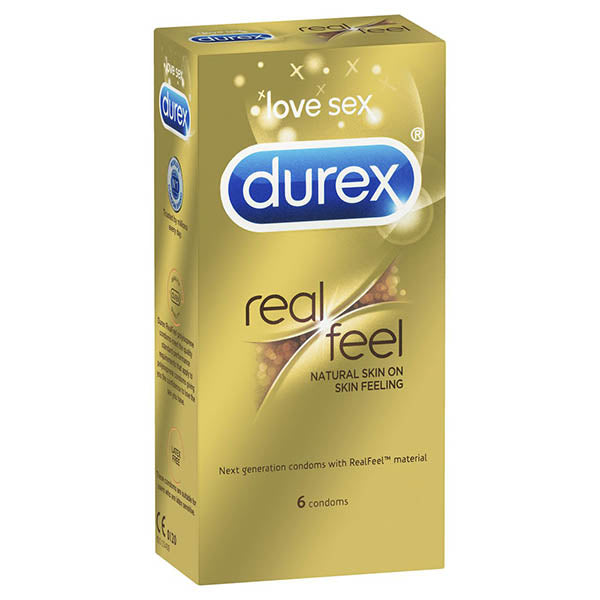 Durex RealFeel - Natural Feeling Non-Latex Condoms - 6 Pack