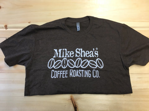 MIKE SHEA'S COFFEE ROASTING CLASSIC BROWN TEE - Mike Shea's Coffee Roasting