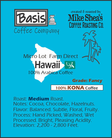 Hawaiian Kona Fancy Medium- 6 OZ.