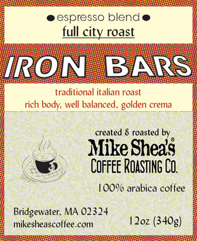 Iron Bars Espresso- Full City -12 OZ.