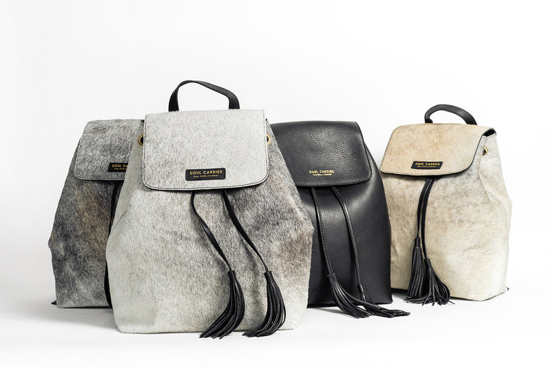 Medium sized backpack from The Essentialist Soul Carrier collection.Made from cowhide.