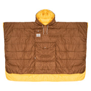 THE PONCHO - GOLD/CHOCOLATE (6544595943610)