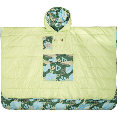 REVERSIBLE PONCHO CORAL REEF GREEN (6041827213498)