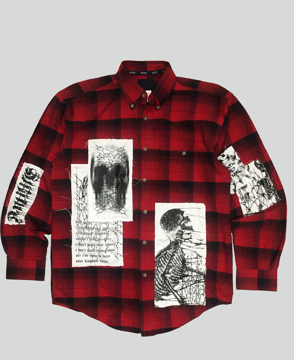 1/1 'Death Cult' flannel shirt - The Anti Life Ltd
