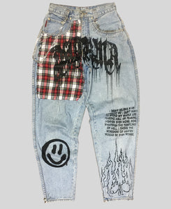 'Dharma' High Waisted Jeans - The Anti Life Ltd