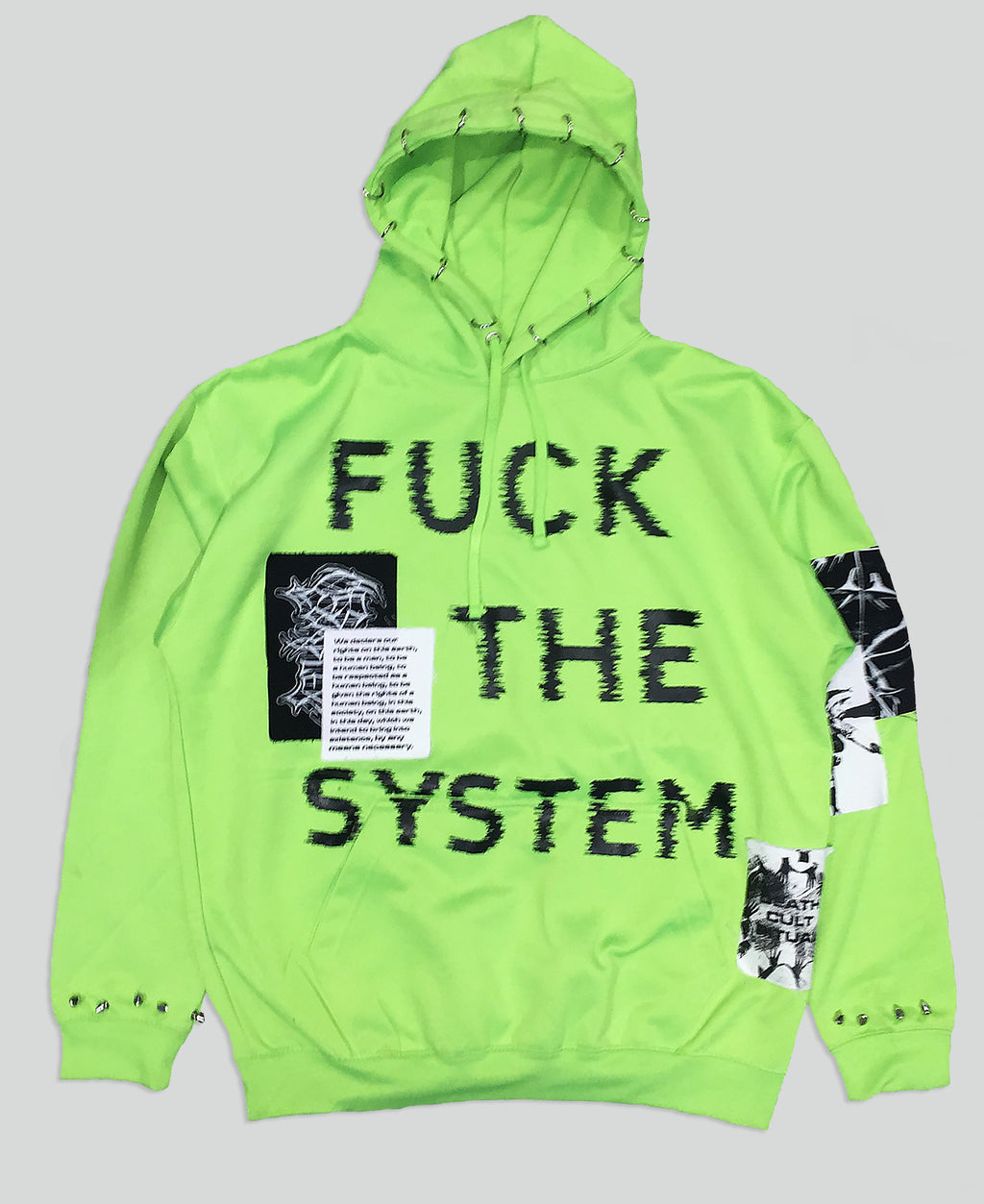 Fuck The System Hoodie - The Anti Life Ltd