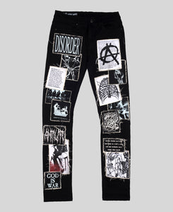 'Anarchy' Patchwork Skinny Jeans - The Anti Life Ltd