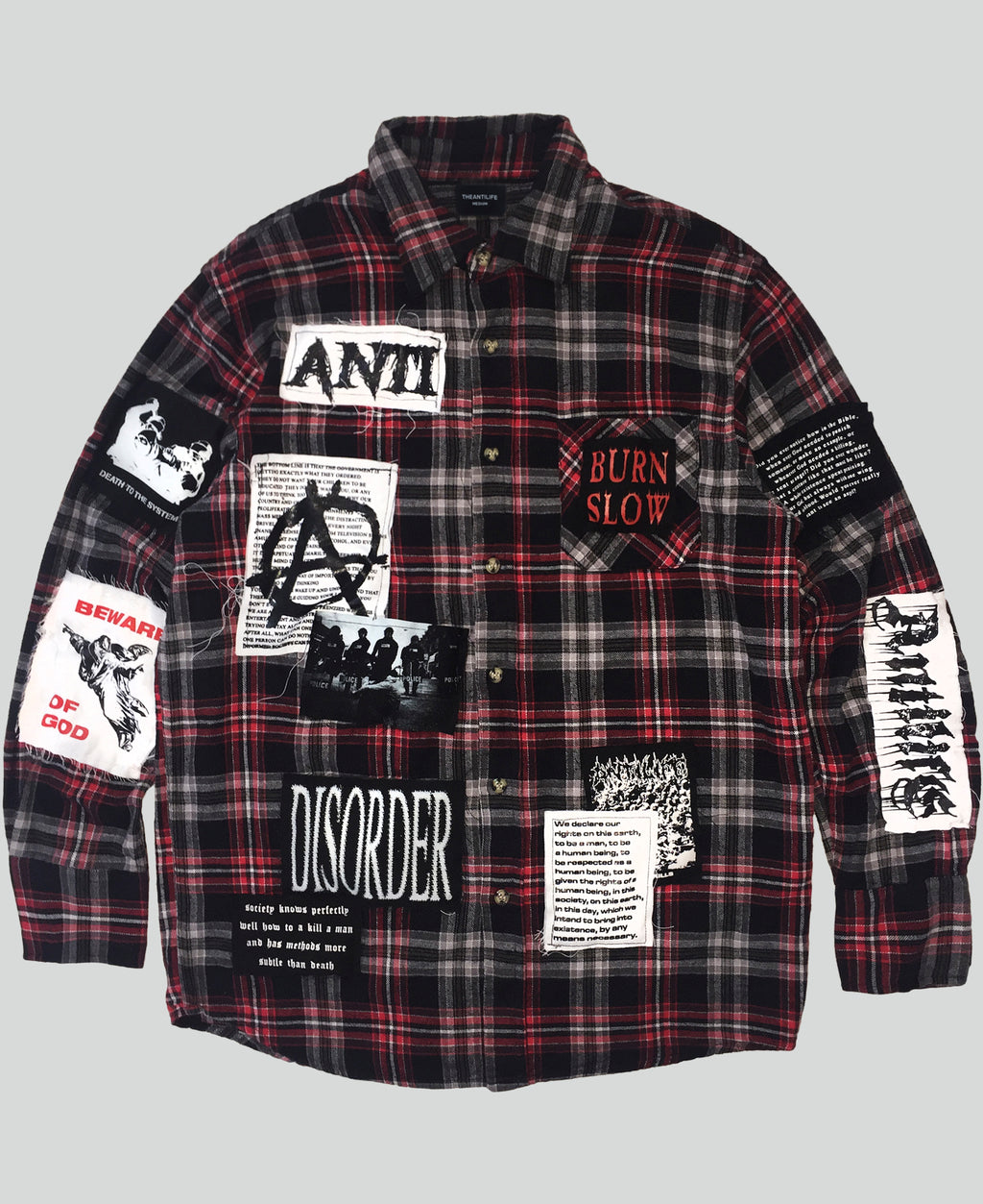 'Desolation' flannel shirt