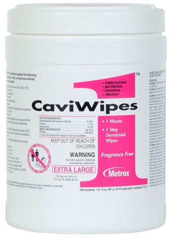 "CaviWipes1 – One Tub of 6 x 6.75"" CaviCide Surface Disinfectant Wipes 160 Count"