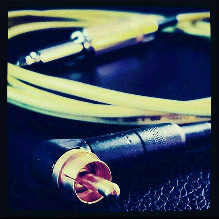8' RIGHT ANGLE RCA CORD BY DEATHLESS - PrimalAttitude.com