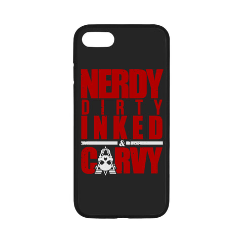 NERDY RED - iPhone 7 Case 4.7""
