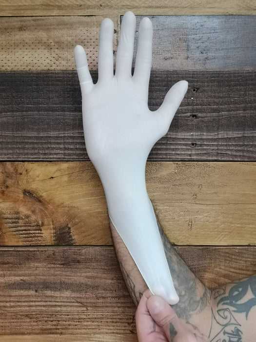 LATEX GLOVES - WHITE (Case 10 Boxes)