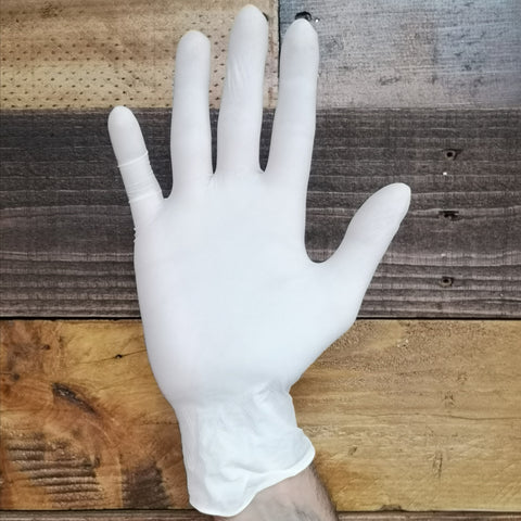 NITRILE GLOVES - WHITE (Case 10 Boxes)