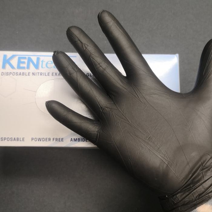 BLACK NITRILE GLOVES (CASE of 10 Boxes)