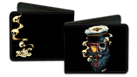 CAPITAIN SKULL - MEN'S BIFOLD WALLET - PrimalAttitude.com