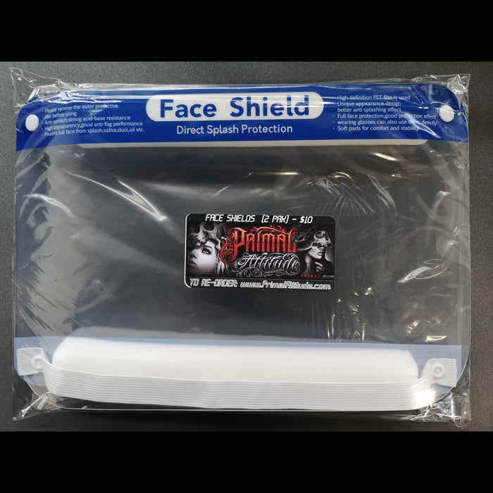 FACE SHIELD - (2 SHIELDS) - ARRIVED
