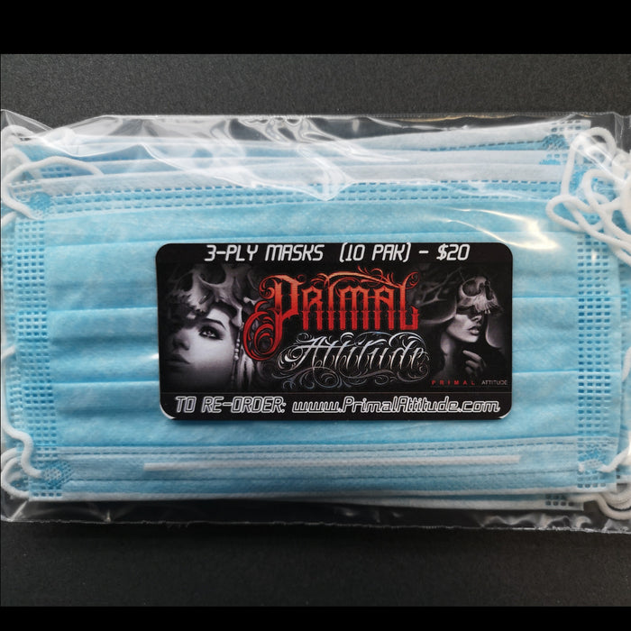 3 PLY Disposable Masks - (10 PK) - ARRIVED