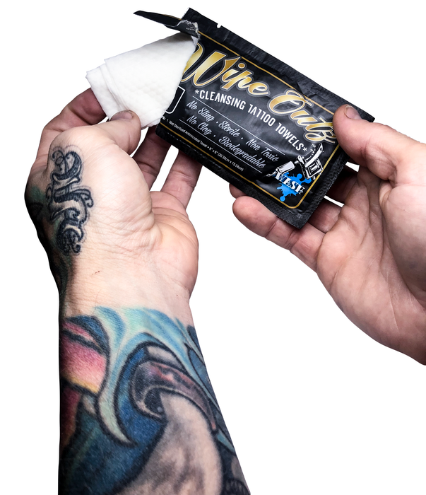 WIPE OUTZ™ Cleansing Individually Packaged Tattoo Wipes