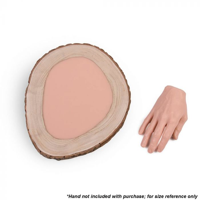 A Pound of Flesh Gallery Series Tattooable Synthetic Round Wooden Plank — Large