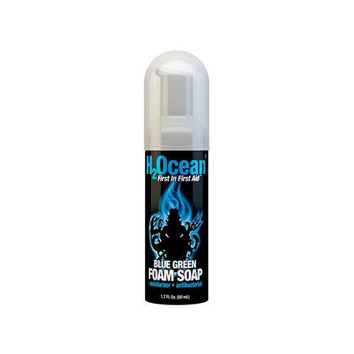 Horiyoshi Tattoo Kit – 4 Pack – 1.7oz Blue Green Foam Soap Aquatat 2oz InkRenu & Ocean Care