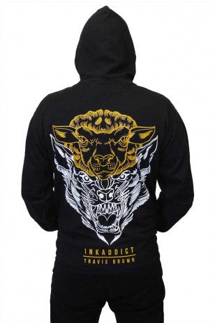 Deception Travis Men's Midweight Zip Hoodie - PrimalAttitude.com - 1