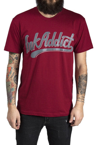 Old School Men's Cardinal Red Tee - PrimalAttitude.com - 1