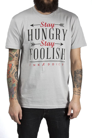 Stay Hungry Men's Grey Tee - PrimalAttitude.com - 1