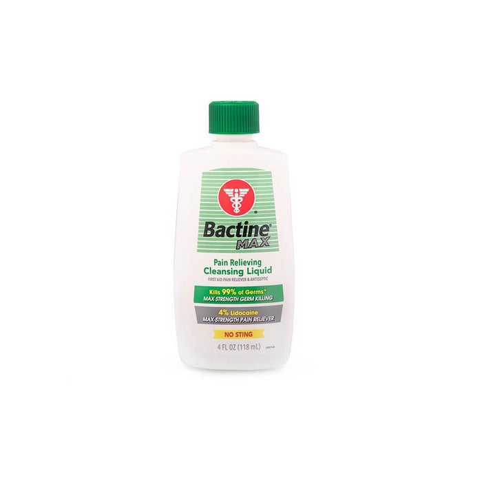 Bactine Max — First Aid Anesthetic & Antiseptic — 4oz Squeeze Bottle