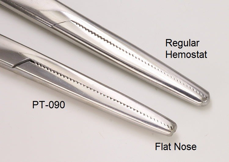 FLAT NOSE Hemostat Tool Designed by Shawn O'Hare for Dermal Anchor Insertion - PrimalAttitude.com - 4