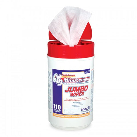 tb Minuteman - 110 Jumbo Size Wipes Unscented