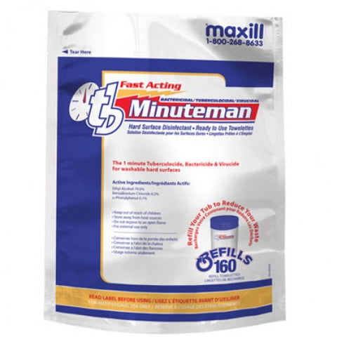 tb Minuteman - 160 Wipe Refill Roll Unscented