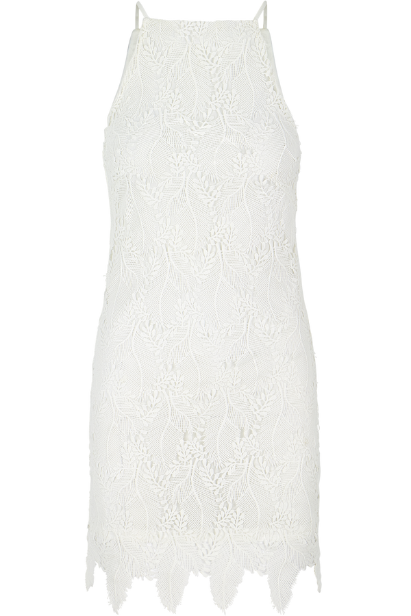 Ana Lace Halter Dress- White