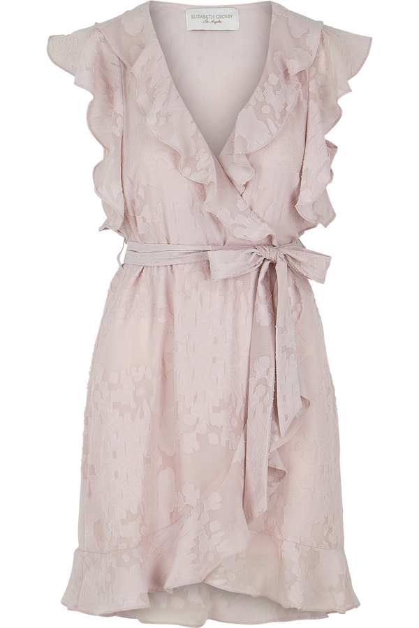 Pippa Ruffle Dress- Rose