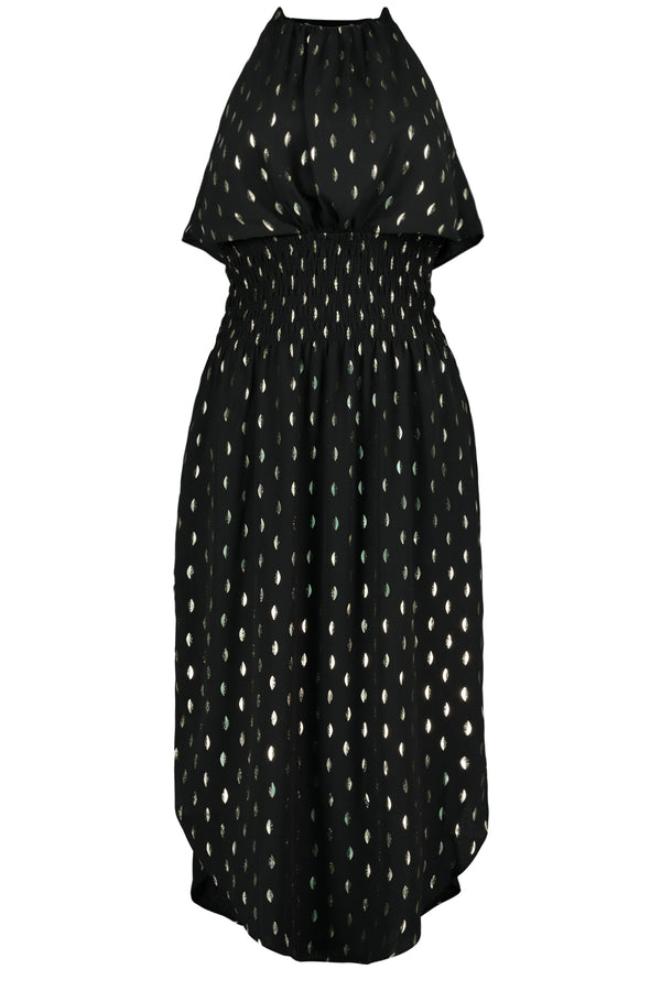 Kat Smock Dress- Black Luna Print