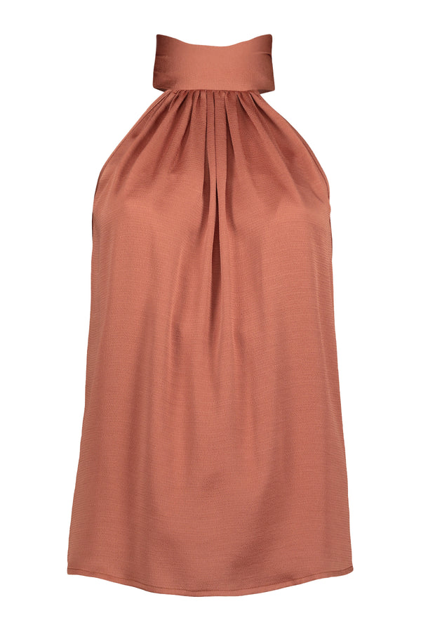 Ana Tie Neck Top- Sienna