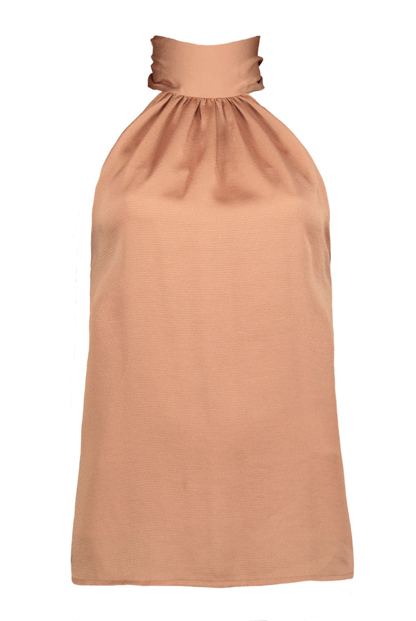 Ana Tie Neck Top- Sunset