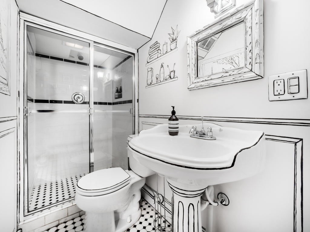Global Home Interior Design-East Hampton Basement Bathroom