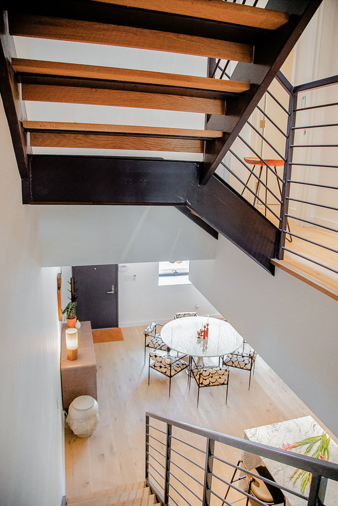 Global Home Interiors-Red Hook Brooklyn Townhouse-Down The Stairs