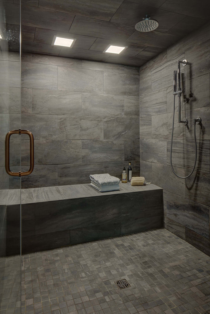 Global Home Interior Design-Blairstown Main Bathroom Steamroom