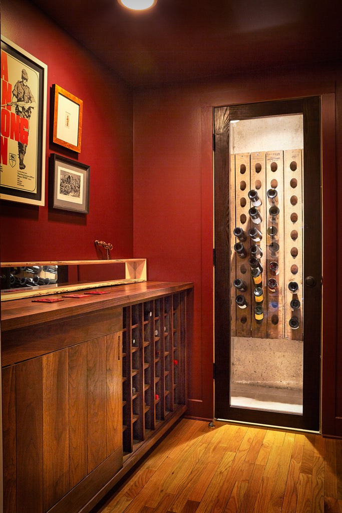 Global Home | Princeton NJ Interior Design | NYC Interior Design | Catskills Residence Wine Room