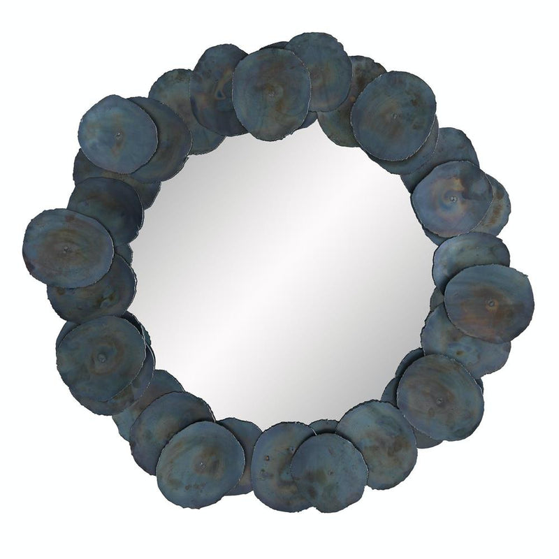 Burnt Iron Disc Mirror - Mirror - Global Home