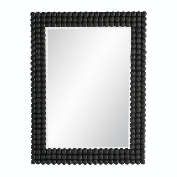 Black Knobbed Mirror- Black