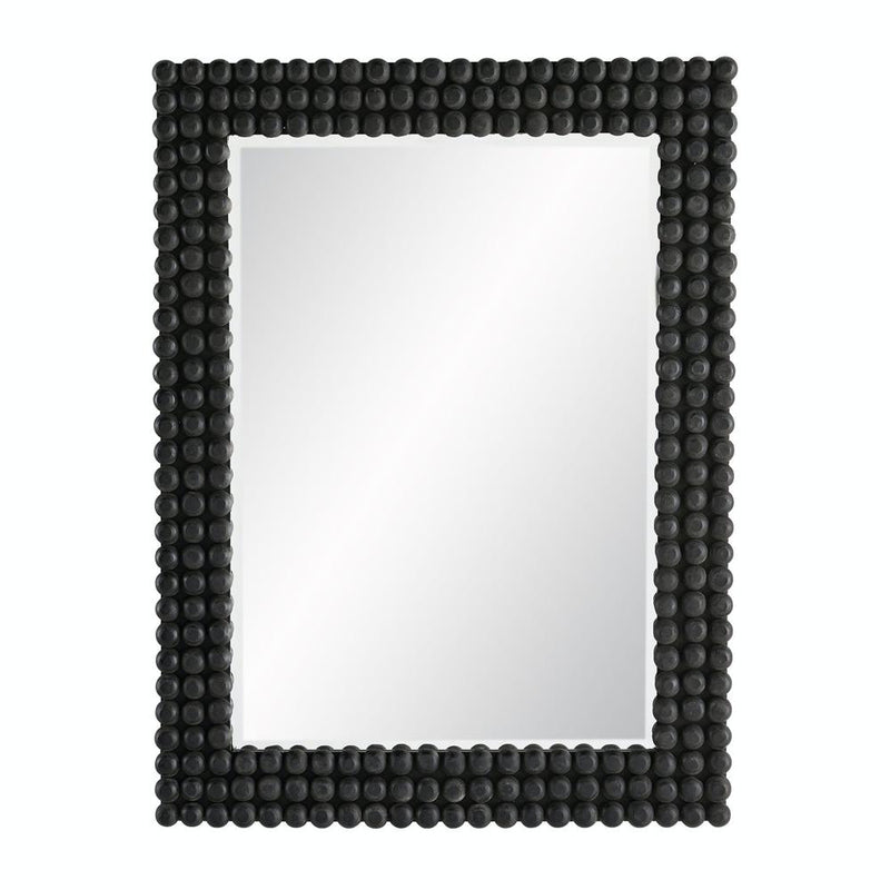 Black Knobbed Mirror - Mirror - Global Home